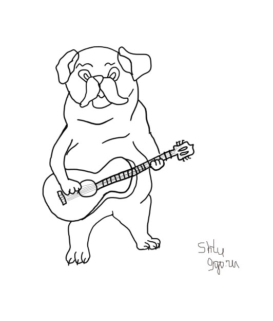 PugWithGuitar