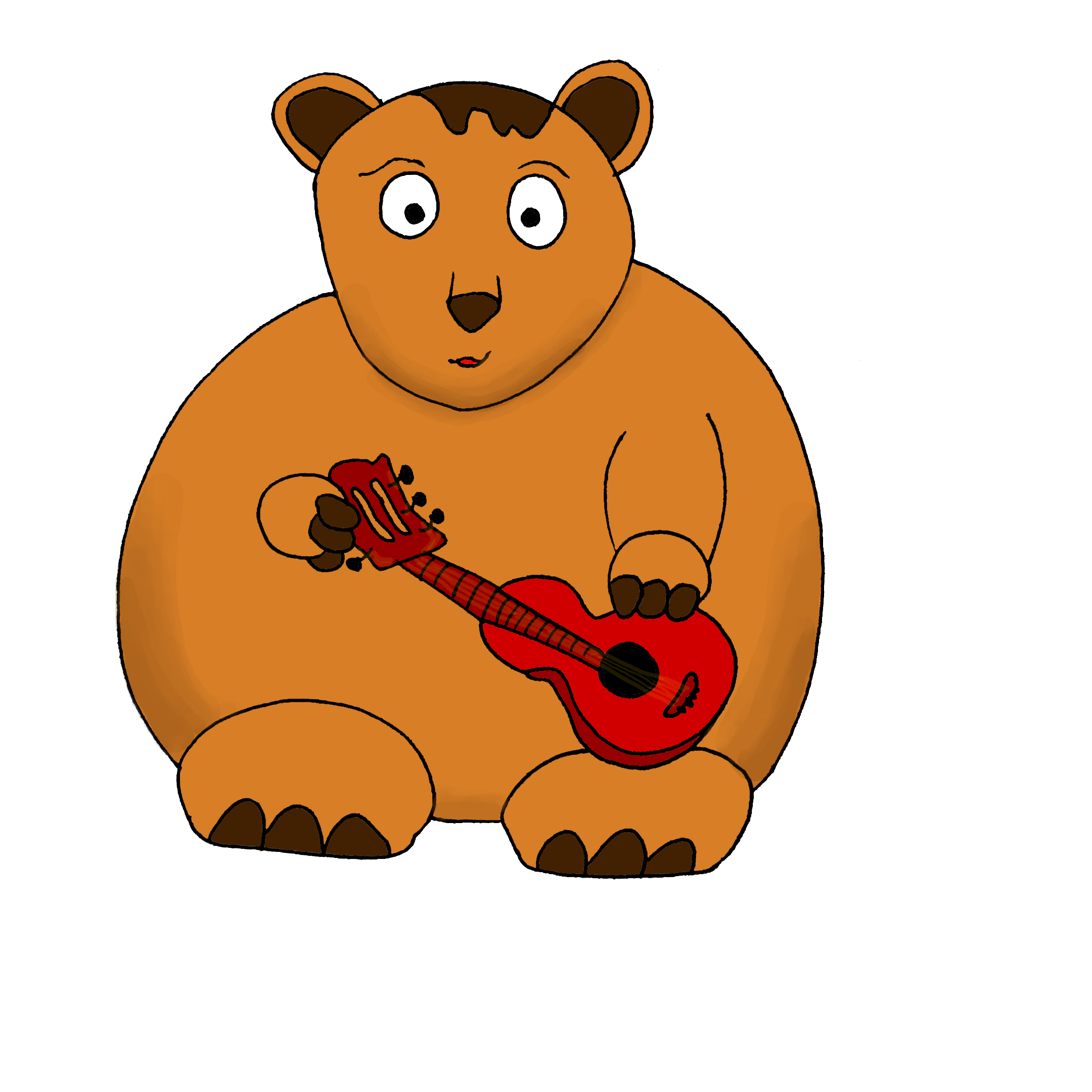 Bear with guitar