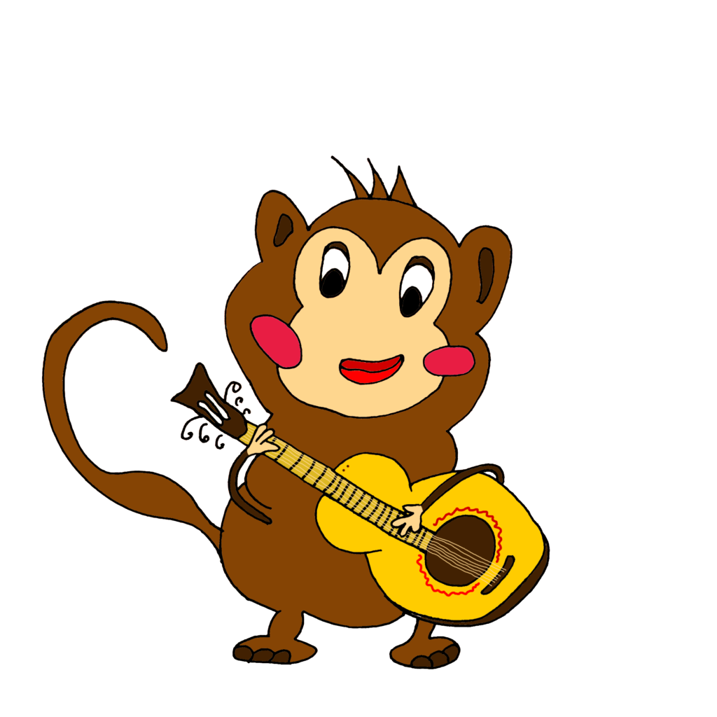 Monkey with guitar (2018)