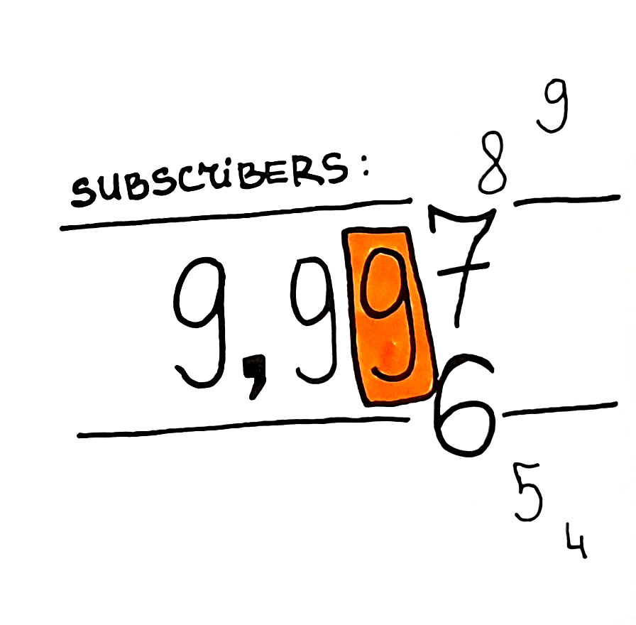 Live subscribers count