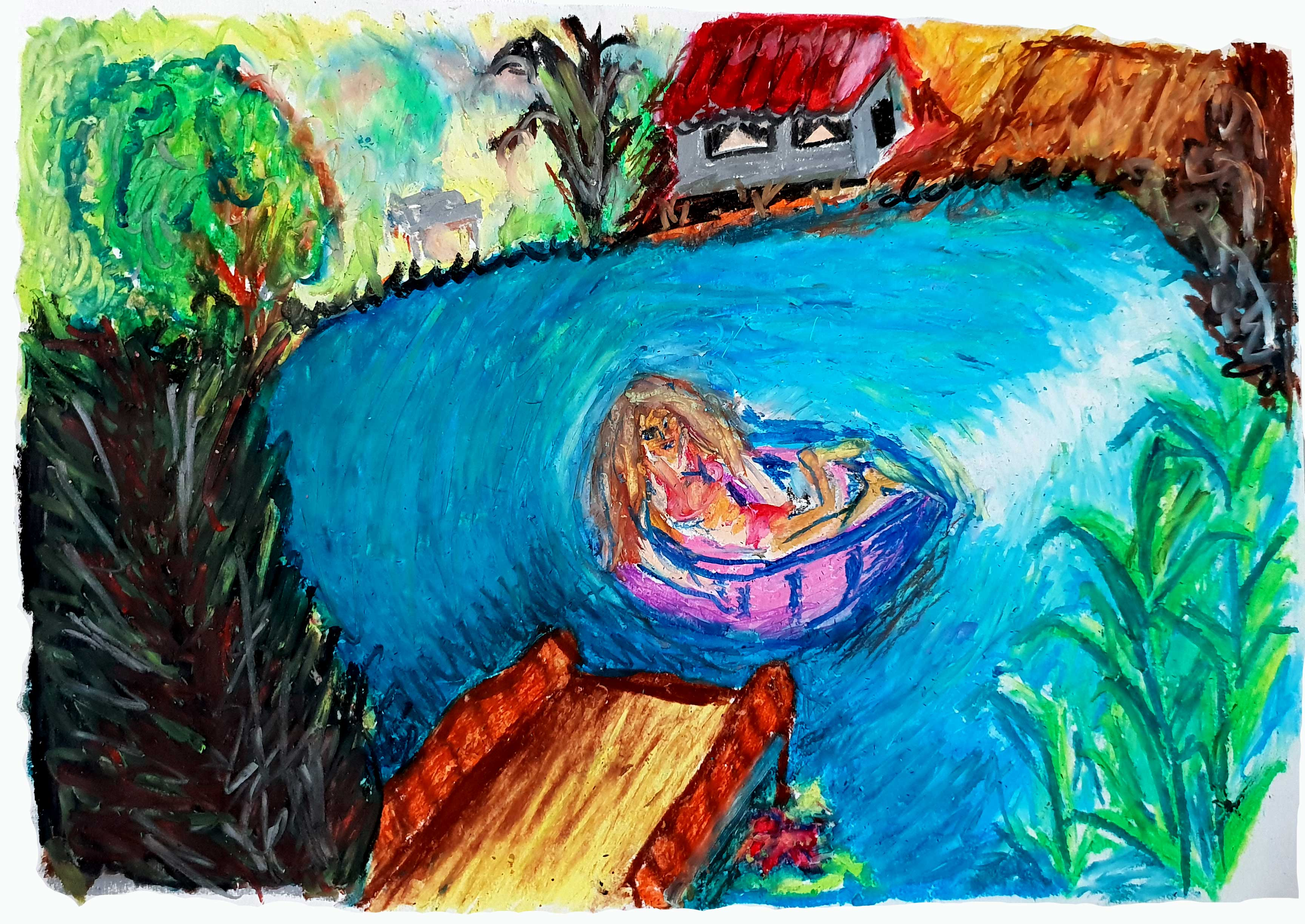 Magic Pond with Girl in the Boat