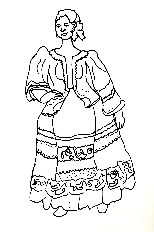 Russian Traditional Folk Costume