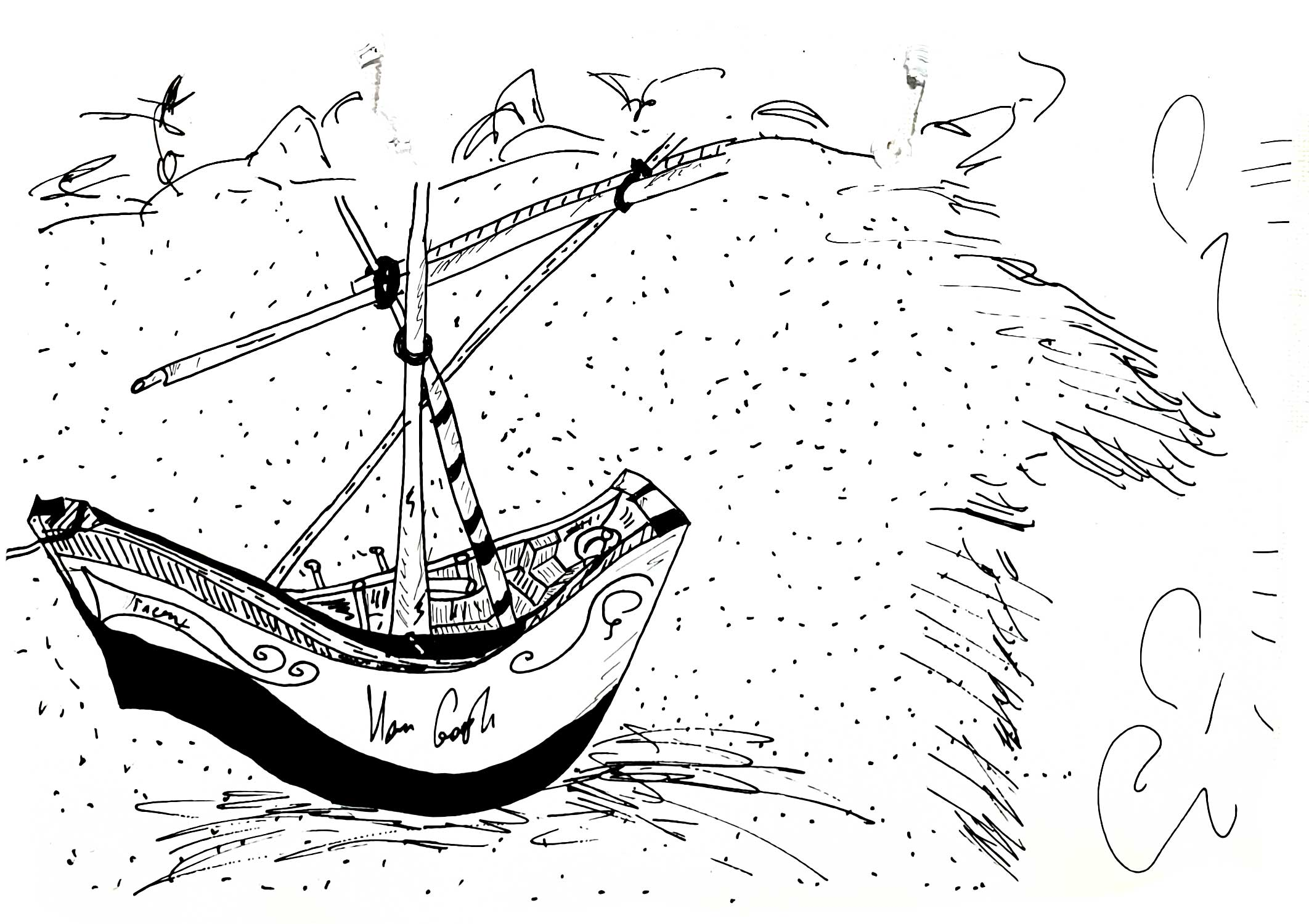 VanGogh-boat