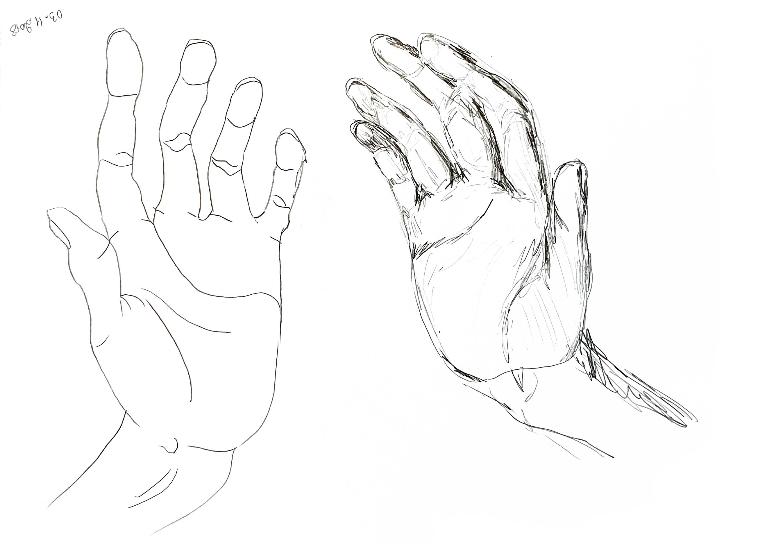 hands-drawing