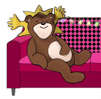 bear-and-pinksofa