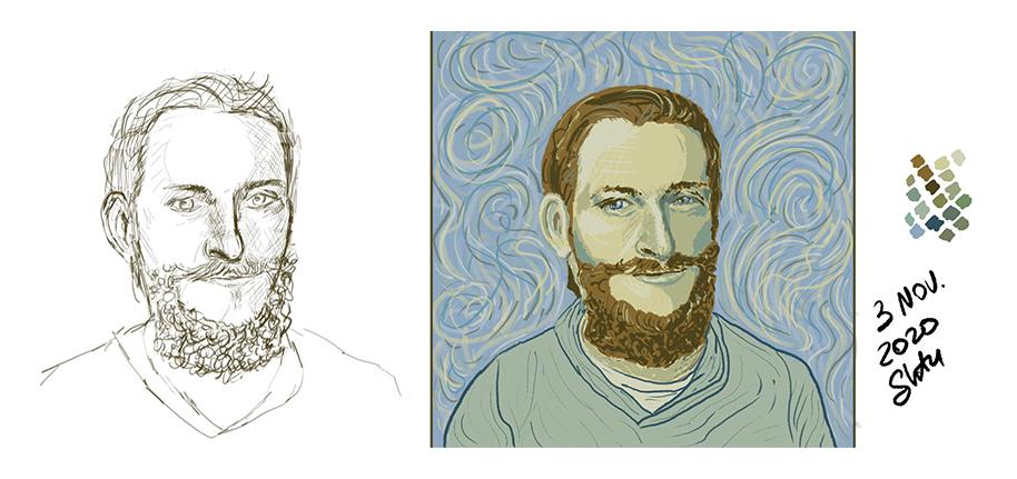 igroglaz beard bear as vangogh