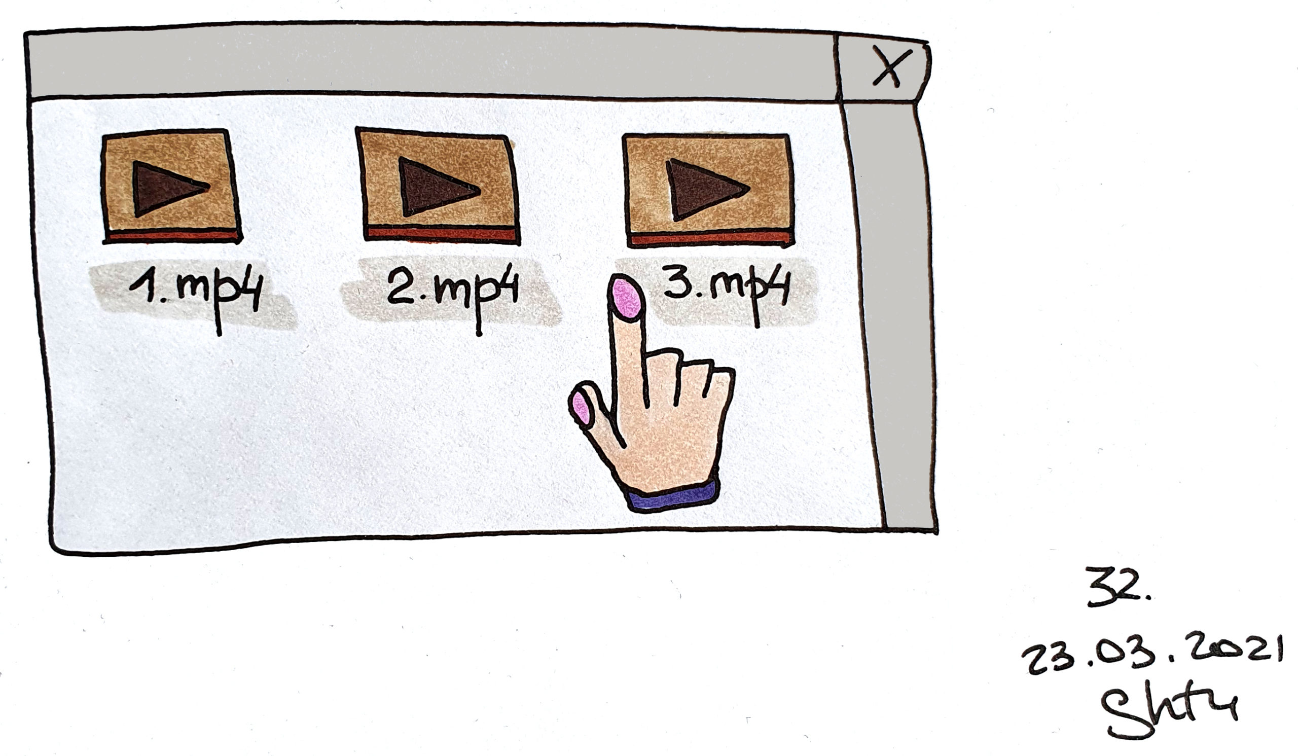 files-hand