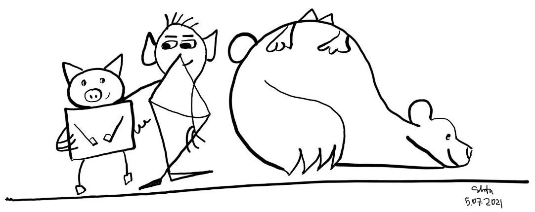 pig-bear-friends